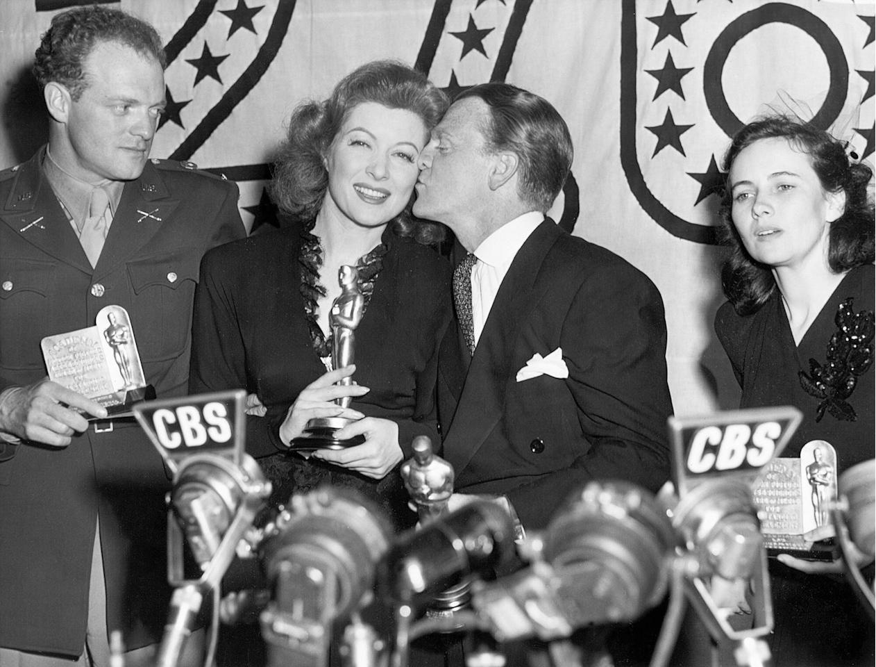 Greer Garson set a record that has yet to be broken with her very, very long acceptance speech after winning the Best Actress award for her performance in <em>Mrs. Miniver</em>. The lengthy speech ran for seven minutes, and many point to it as the catalyst for the modern introduction of the time limit.