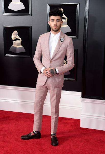 Music's men stood out from the crowd at the 60th Annual GRAMMYs red carpet.