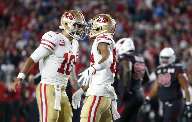 Jimmy Garoppolo and the 49ers have put the rest of the NFL on notice. (Ralph Freso/Getty Images)