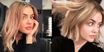 <p>While everyone else on your feed was going dark for fall, Lucy colored her hair blonde. In addition to the unexpected shade, she's also rocking a super short bob that I will be taking directly to my hairstylist. </p>