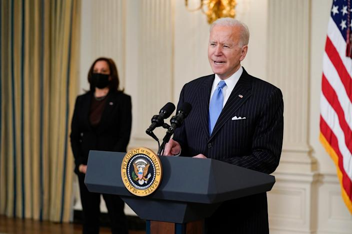 <p>Forty-three days into his presidency, Joe Biden has yet to hold a formal White House press conference.</p> (Copyright 2021 The Associated Press. All rights reserved)