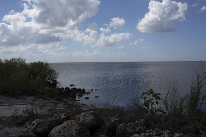 View of Lake Okeechobee from Canal Point, Fla., Oct. 16, 2018. (Photo: Saul Martinez for Yahoo News)