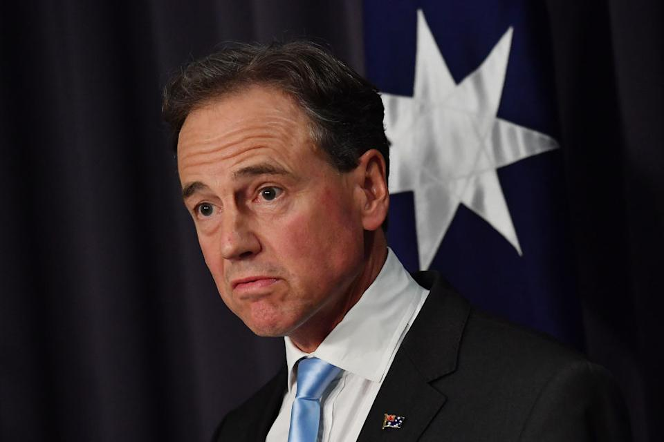 Australia's Health Minister Greg Hunt is pictured.