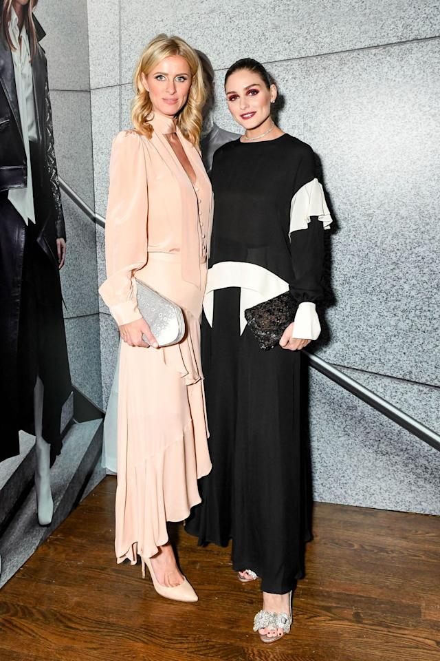 <p>On February 12, Olivia Palermo celebrated the launch of her fashion collection at Chefs Club.</p>