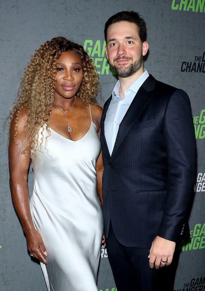Alexis Ohanian (R) and Serena Williams | Jim Spellman/Getty Images