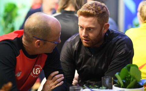 Jonny Bairstow chats with Welsh Fire head coach Gary Kirsten - Credit: getty images