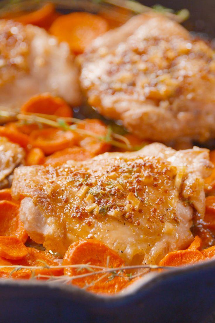 """<p>Beautiful things happen when you branch out from maple bacon.</p><p>Get the recipe from <a href=""""https://www.delish.com/cooking/recipe-ideas/recipes/a49575/maple-chicken-carrots-recipe/"""" rel=""""nofollow noopener"""" target=""""_blank"""" data-ylk=""""slk:Delish"""" class=""""link rapid-noclick-resp"""">Delish</a>.</p>"""