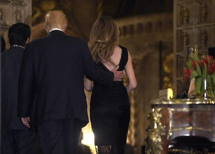 Melania's dress had a low dip in the back. Photo: AP/Susan Walsh