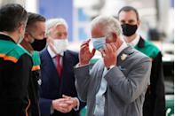 <p>A protective mask gets the best of the Prince of Wales after he made a speech in Oxford. <br></p>