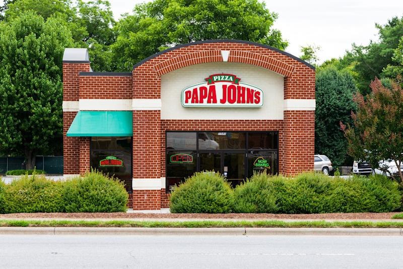 Hickory, NC, USA-21 June 18: Papa John's Pizza is an American restaurant franchise company, being the 3rd largest take-out and pizza delivery restaurant chain in the U.S.