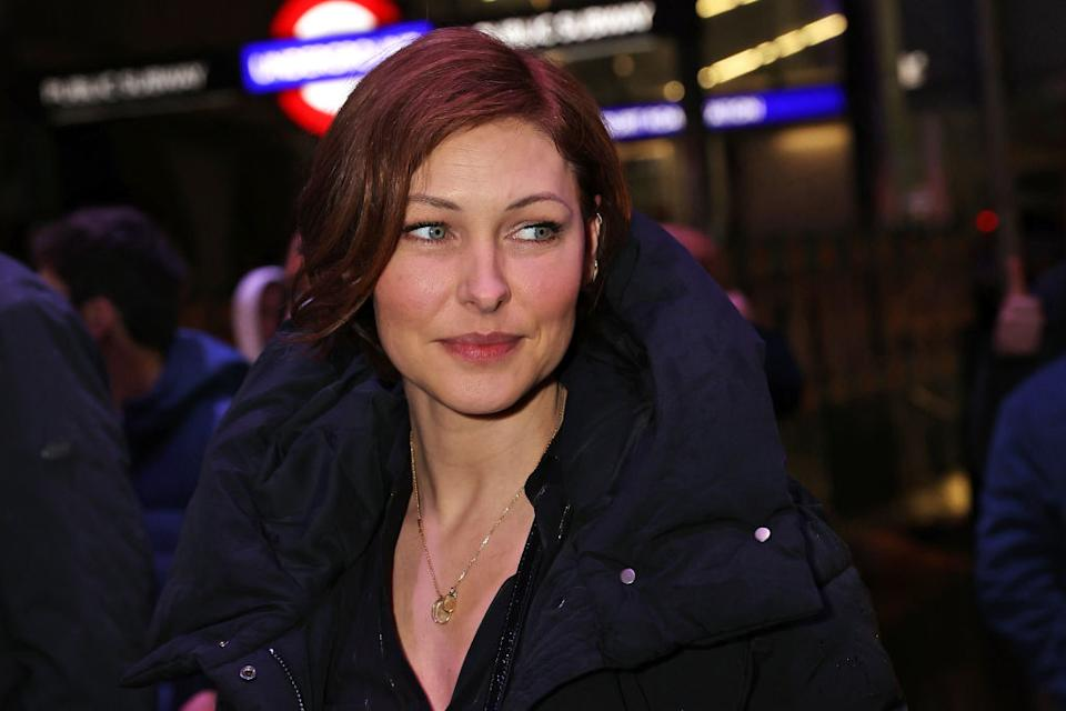Emma Willis has opened up about the reason she keeps her hair short, pictured in December 2020. (David M. Benett/Dave Benett/Getty Images)