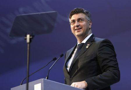 Croatia's Prime Minister Andrej Plenkovic takes part in a European People Party summit in St Julian's