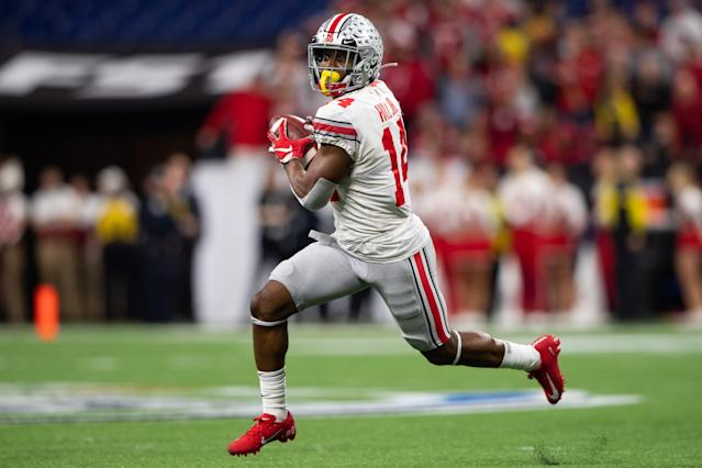 Ohio State K.J. Hill could get lost in a historically great WR class in the 2020 NFL draft, but he shouldn't. (Photo by Zach Bolinger/Icon Sportswire via Getty Images)