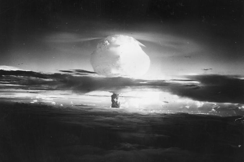 The panel behind the Doomsday Clock said the threat of nuclear weapons was worsening: Getty Images