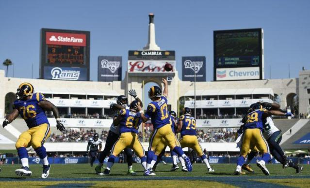 The Rams' television ratings are lower in Los Angeles than they were in St. Louis (AP)