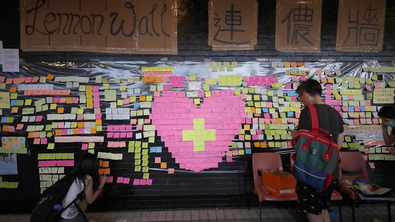 Hong Kong Lennon Wall torn down at Australia's University of Queensland