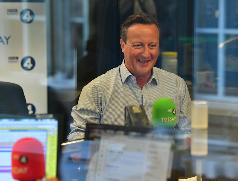 David Cameron on the Today show on Thursday, as part of his promotional; tour for his autobiography.