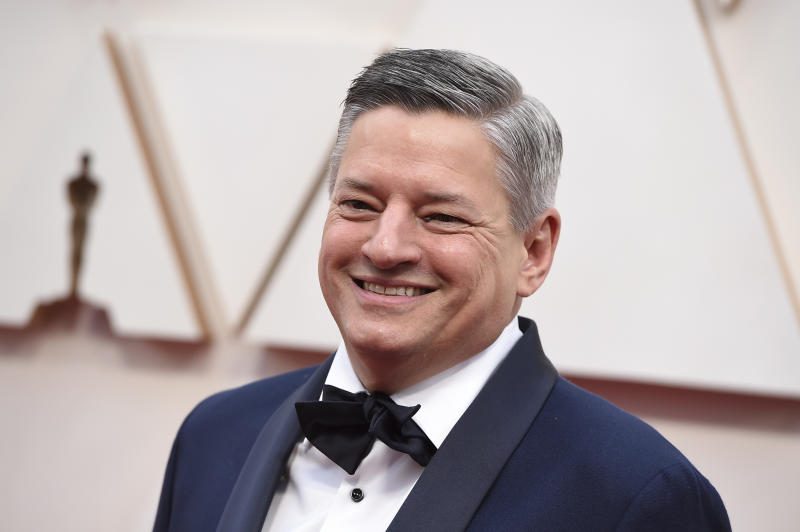 Ted Sarandos arrives at the Oscars on Sunday, Feb. 9, 2020, at the Dolby Theatre in Los Angeles. (Photo by Jordan Strauss/Invision/AP)