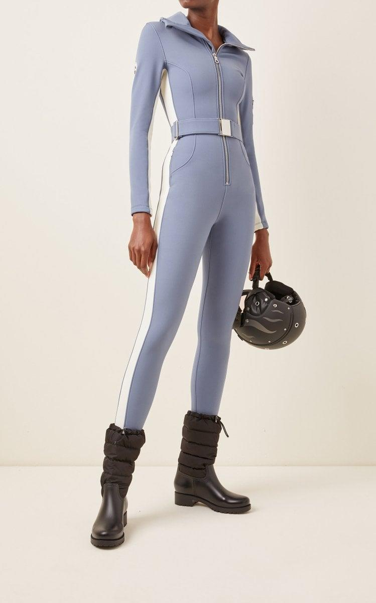 <p>Warmer days call for this <span>Cordova Signature Stretch-Jersey Ski Suit</span> ($980), and you can always layer a puffer over it.</p>