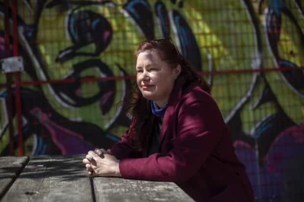 Sarah Blyth, executive director of the Overdose Prevention Society, is pictured in Vancouver on Tuesday.