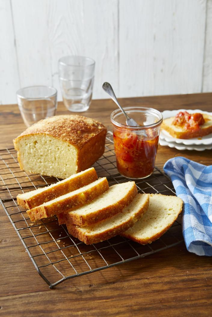 """<p>There's something deeply comforting about having a loaf of quick bread in the house. You know: a golden, toasty banana bread, or a rich, cakey chocolate bread. They're <a href=""""https://www.countryliving.com/food-drinks/g32944821/easy-baking-recipes/"""" rel=""""nofollow noopener"""" target=""""_blank"""" data-ylk=""""slk:easy to bake"""" class=""""link rapid-noclick-resp"""">easy to bake</a> and all you have to do is grab a slice and maybe pop it in the toaster oven, then dab it with a pat of butter and you've got a ready-made breakfast, a tasty snack, or a light dessert that pairs perfectly with a cup of <a href=""""https://www.countryliving.com/shopping/gifts/g24534196/coffee-lover-gifts/"""" rel=""""nofollow noopener"""" target=""""_blank"""" data-ylk=""""slk:hot coffee"""" class=""""link rapid-noclick-resp"""">hot coffee</a> or tea. </p><p>But quick breads can be made out of <em>so</em> much more than just bananas or summer squash. And they run the gamut from after-dinner sweet to pair-it-with-dinner savory. You can toss in all kinds of flavors, like spinach and feta, Cheddar and bacon, chocolate chips, or even apples and rosemary. That's why we rounded up nearly two dozen of our very favorite quick breads. All of these can be made in a jiffy—and many come together in a single mixing bowl. Because they don't need the lengthy rising times that a <a href=""""https://www.countryliving.com/food-drinks/a32050142/easy-no-knead-bread-recipe/"""" rel=""""nofollow noopener"""" target=""""_blank"""" data-ylk=""""slk:standard loaf of bread"""" class=""""link rapid-noclick-resp"""">standard loaf of bread</a> requires, you can make the whole thing on a lazy Sunday afternoon. In fact, that's exactly what we recommend doing. Mix up one of these loaves this weekend, and give yourself a breakfast break all the following week. Whether you prefer sweet treats in the morning, or something more savory, any single one of these quick breads will make an ideal, extra-fast morning break from your usual routine. It's an easy way to treat future-you to something special """