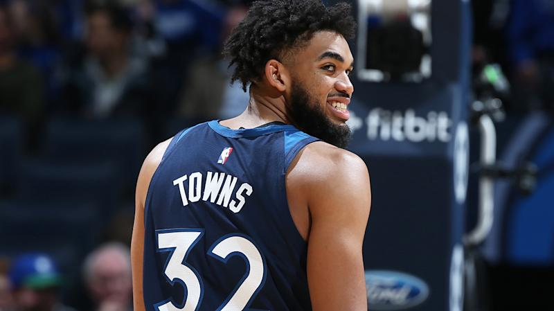 Minnesota Timberwolves superstar Karl-Anthony Towns, pictured, has missed several games with a knee injury.