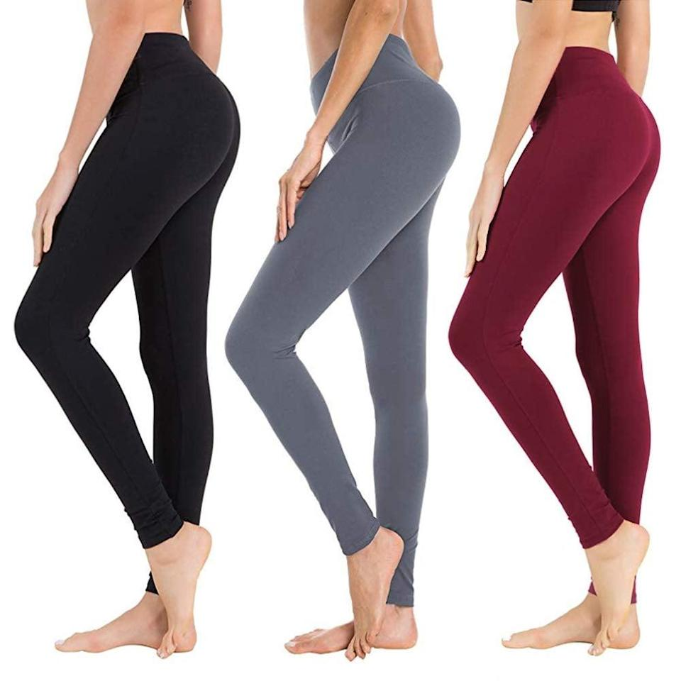 <p>These <span>Syrinx High Waisted Leggings</span> ($28 for three pairs) are so affordable and comfortable, plus they come in a bunch of different colors. Is it any wonder they're bestsellers?</p>