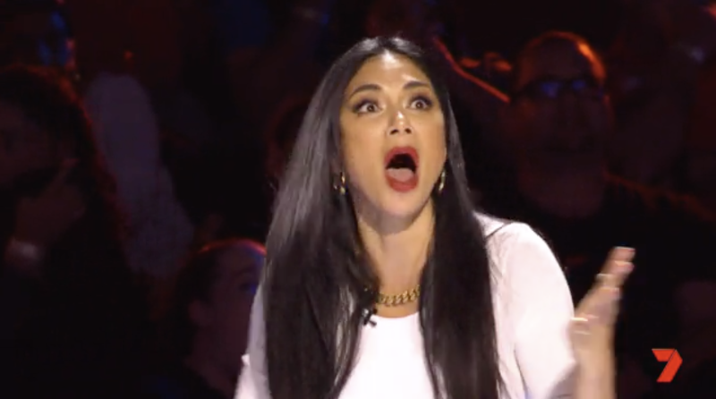 2019 Australia's Got Talent judge Nicole Scherzinger from Pussycat Dolls shocked by Apollo Jackson magic stunt with fire gone wrong.