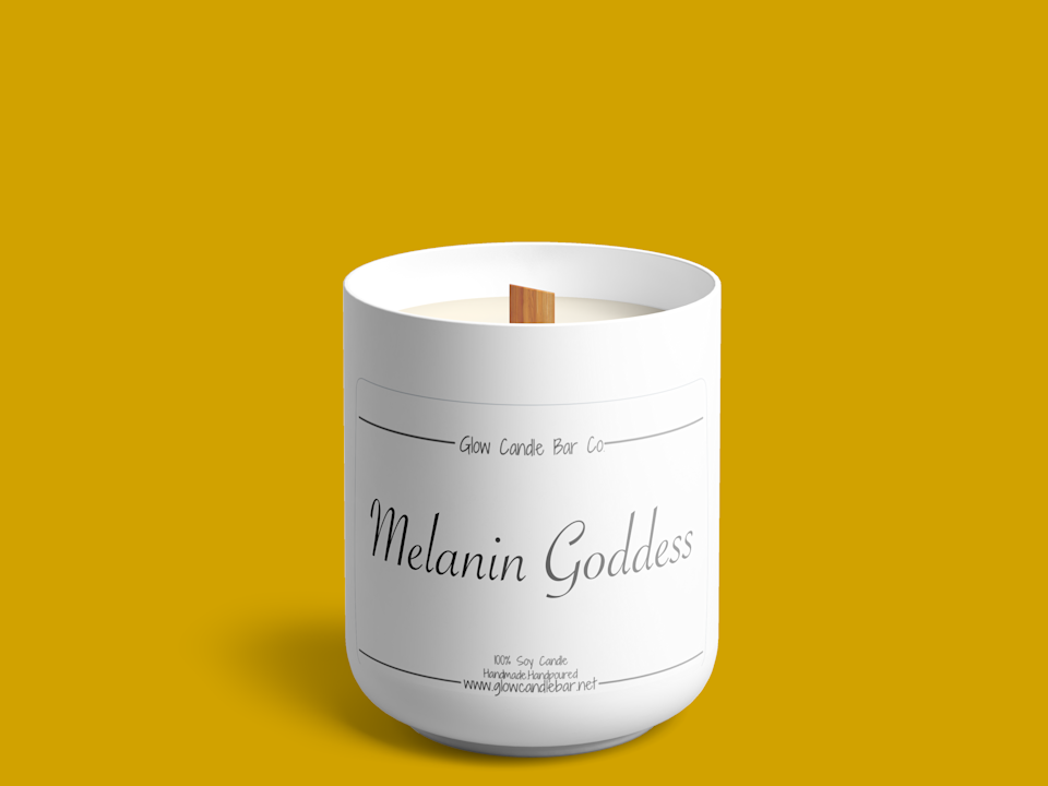 """<p><strong>Glow Candle Bar</strong></p><p>glowcandlebar.net</p><p><strong>$50.00</strong></p><p><a href=""""https://glowcandlebar.net/workshops/melanin-goddess"""" rel=""""nofollow noopener"""" target=""""_blank"""" data-ylk=""""slk:Shop Now"""" class=""""link rapid-noclick-resp"""">Shop Now</a></p><p>A candle designed for a queen? Say no more. This heavenly candle found a way to bottle it up and deliver it to you with a wooden wick that crackles like a fireplace. Plus, it's topped with gold flakes...ooh la la!</p>"""