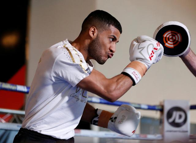 Boxing - Kell Brook Public Work-Out - Crucible Theatre, Sheffield, Britain - February 15, 2018 Gamal Yafai during his work-out Action Images via Reuters/Ed Sykes