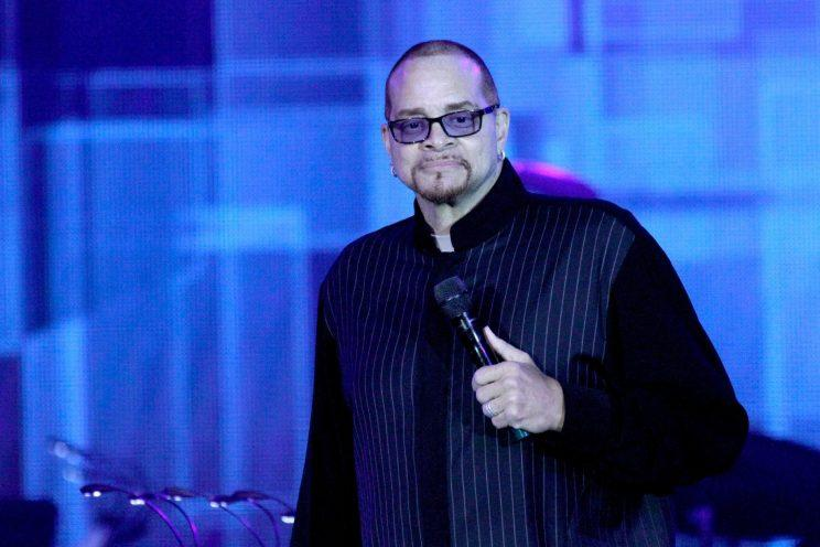 Comedian Sinbad onstage at Muhammad Ali's Celebrity Fight Night XXII on April 8, 2016, at the JW Marriott Phoenix Desert Ridge Resort & Spa in Phoenix (Photo: Mike Moore/Getty Images for Celebrity Fight Night)