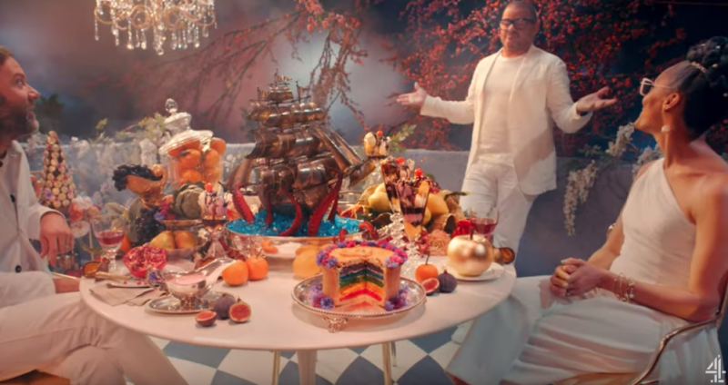 Heston Blumenthal's new show Crazy Delicious boasts an edible set. (Channel 4)