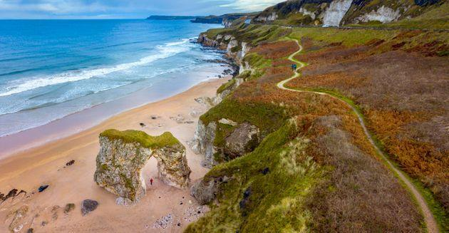 The clifftops at Whiterocks, Portrush (Photo: Chris Hill via Getty Images)