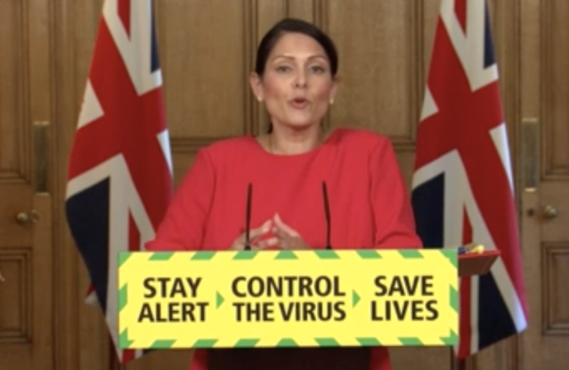 Priti Patel has announced two-week quarantines will be imposed on new arrivals to the UK from June 8.