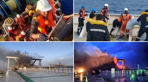 MT New Diamond Fire: 22 People Rescued From Sri Lankan Oil Tanker, 1 Person Still Missing, Fire-Fighting Operations Underway