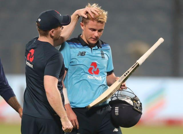 Sam Curran, right, narrowly failed to drag England back from the brink