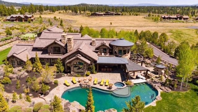 """Built by Drew Bledsoe in 2008, the 10-acre compound centers on a nearly 15,000-square-foot mansion with views of the Cascades. <span class=""""copyright"""">(Realtor.com)</span>"""