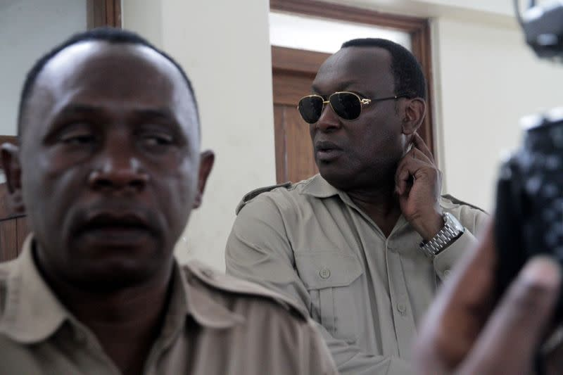 Freeman Mbowe, chairman of Chadema, Tanzanian main opposition party arrives at Kisutu Magistrate Court in Dar es Salaam