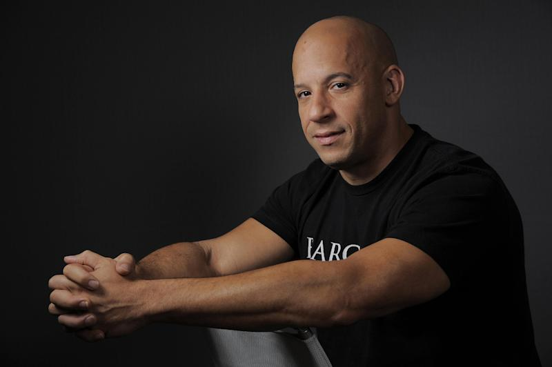 In this Tuesday, Aug. 20, 2013 photo, actor Vin Diesel poses for a portrait at NBC Universal in Universal City, Calif. (Photo by Chris Pizzello/Invision/AP)