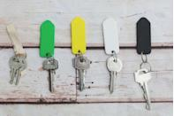 """<p>Removable key rings let you leave work keys at home on weekends, the car key with the valet, and the house key with your <a href=""""https://www.womansday.com/life/pet-care/g25440167/dogs-that-dont-shed/"""" rel=""""nofollow noopener"""" target=""""_blank"""" data-ylk=""""slk:pet sitter"""" class=""""link rapid-noclick-resp"""">pet sitter</a>. </p>"""