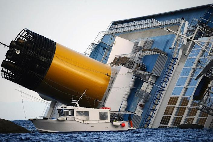 Costa Concordia ran aground and keeled over off Italy's Giglio island in 2012 (AFP Photo/Filippo Monteforte)