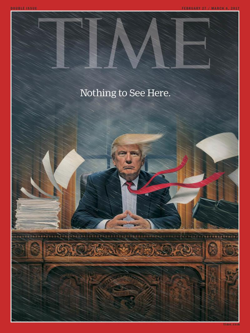 The Story Behind TIME's Trump Chaos Cover