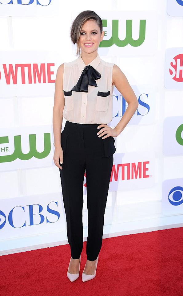 "Following in Tyra's footsteps was the equally adorable Rachel Bilson, who donned this bow-enhanced Malene Birger blouse and black Alexander McQueen trousers. A loose updo, soft pink lipstick, and heels -- courtesy of Shoemint -- completed the <a target=""_blank"" href=""http://tv.yahoo.com/hart-of-dixie/show/47459"">""Hart of Dixie""</a> star's flawless ensemble. (7/29/2012)<br><br><a target=""_blank"" href=""http://bit.ly/lifeontheMlist"">Follow 2 Hot 2 Handle creator, Matt Whitfield, on Twitter!</a>"