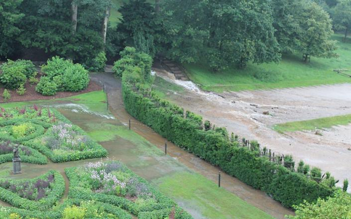 Flooding in 2019 at Lyme Park, Cheshire. - National Trust/PA