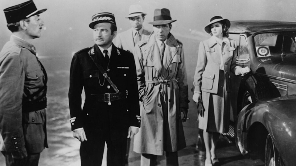 <p> Hollywood's definitive wartime propaganda pic blends together the melodrama of lovers who can't be together with the harsh reality of conflict. Michael Curtiz's World War 2 actioner has two top-of-their-game actors in the lead roles, Humphrey Bogart and Ingrid Bergman, as Rick and Ilsa. Rick's a bartender in Casablanca, Ilsa's an old flame in town with her new husband, a notorious rebel who's out to bring down the Nazis. The great source of tension between them stems from Rick, who can't stand idly by when he has the power to help Ilsa's man. Chemistry like theirs that's rarely seen onscreen nowadays, a result of their off-set friendship, which also gave the film its most memorable one-liner. Casablanca is the wartime romance to end 'em all. </p>