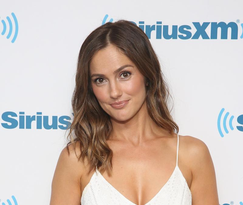 Minka Kelly visits at SiriusXM Studios in 2017.