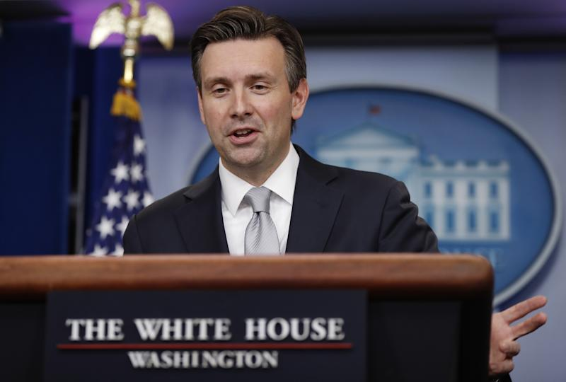 White House press secretary Josh Earnest speaks during the daily news briefing at the White House, in Washington, Tuesday, Nov. 29, 2016. Earnest discussed the funeral of Fidel Castro, flag-burning, and other topics. (Photo: Carolyn Kaster/AP)