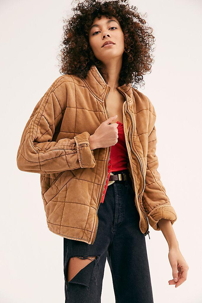 Dolman Quilted Knit Jacket. Image via Free People.