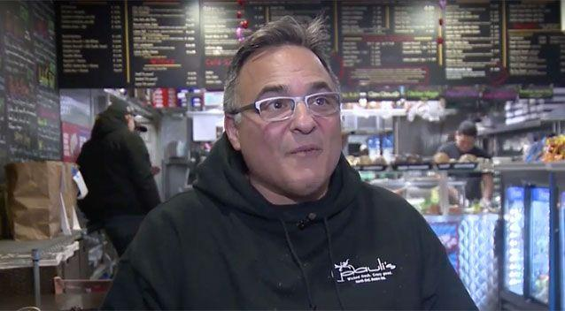 Restaurant owner Paul Barker says there has been a lot of interest in the burger. Source: WCVB