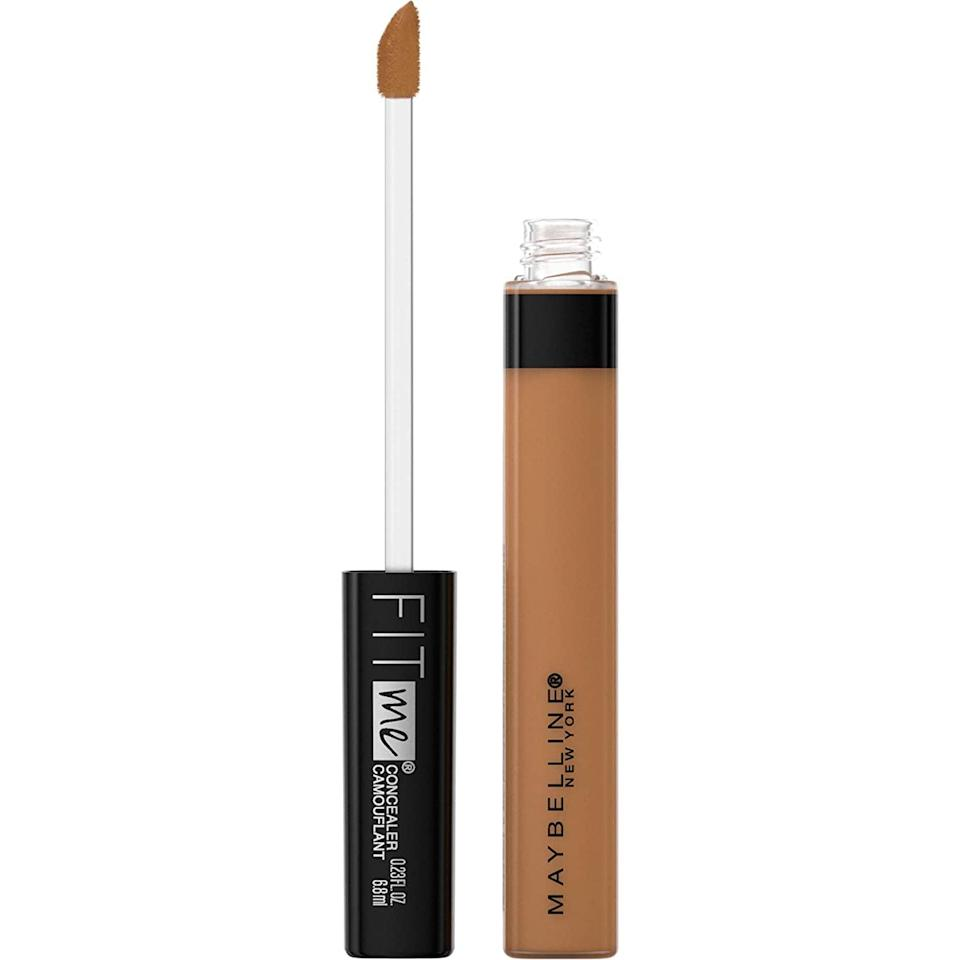 """<p>The <span>Maybelline New York Fit Me Liquid Concealer</span> ($5) is a fan-favorite. It's oil-free and great for acne-prone skin. It gives you a natural, buildable coverage.</p> <p><strong>Customer Review:</strong> """"This concealer blends really well with my skin, and it hides all my imperfections. It also brightens my skin and gives it a nice look. This is a great affordable concealer.""""</p>"""